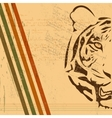 vintage tiger background vector image vector image