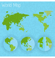 World map 8 bit air and compass vector image vector image