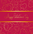 Card of hearts for Valentines day vector image