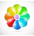 Abstract Colorful 3d Flower Isolated on White vector image