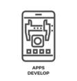 APPS Develop Line Icon vector image