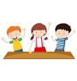 Children having hands up vector image
