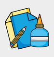 creative object to art and craft design vector image