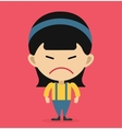Little cartoon angry girl vector image