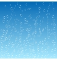 Water bubbles pattern on blue background vector image
