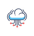 web site cloud hosting - modern line icon vector image