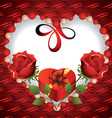 Card to Valentines Day vector image vector image