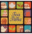 icon for tea time vector image vector image