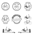 Set of rent a bike design elements vector image vector image