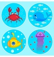 The Underwater icons vector image