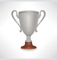 winner cup trophy sign isolated vector image