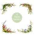 floral corners on transparent background vector image