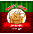 Design Christmas card vector image vector image