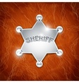 sheriffs metallic badge vector image