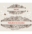 Festive retro floral frames vector image vector image
