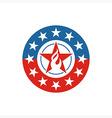 America Star Circle USA logo icon vector image