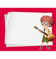 Paper design with boy playing guitar vector image vector image