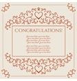 Congratulations card design vector image