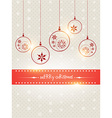 creative merry christmas design vector image