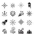firework icons set 2 vector image