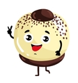 Funny cake isolated cartoon character vector image