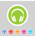 headphone dj icon sign symbol logo label vector image