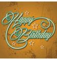 Retro Happy Birthday greeting stock vector image