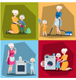 set of mother with daughter vector image