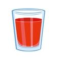 Tomato juice glass vector image