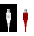 USB wires couple vector image