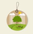 Set of nature themed labels and tags vector image