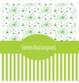vintage wallpaper green vector image