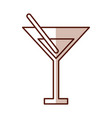 shadow yellow cocktail cartoon vector image