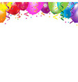 Frame With Colorful Balloons vector image