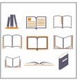 Icons of books vector image