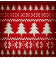 Knitted Christmas background EPS 10 vector image