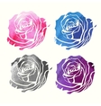 set of watercolor roses vector image