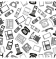 various grayscale phone symbols and icons seamless vector image
