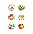 Health nature logo vector image