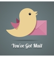 Bird with letter vector image