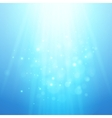 Blue rays of light bokeh blurred vector image