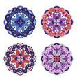 colorful mandala set vector image