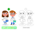 doctors male and female vector image