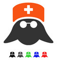 medical nurse head flat icon vector image
