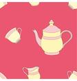 Seamless of Teaset vector image
