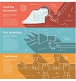 Set of flat design concepts for business vector image