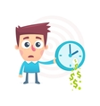 time spent money vector image