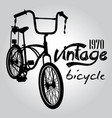 vintage bicycle graphic design vector image