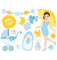Pregnant Woman Set vector image