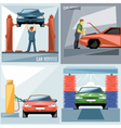 Digital blue green and red auto service vector image